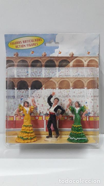 BLISTER ORIGINAL BAILADOR Y BAILADORAS DE FLAMENCO . REALIZADO POR TEIXIDO . ORIGINAL AÑOS 60 (Juguetes - Figuras de Goma y Pvc - Teixido)