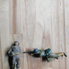 Figuras de Goma y PVC: 2 SOLDADOS PECH GOMA(AMERICANO, JAPONES). Lote 204396152