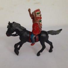 Figuras de Goma y PVC: FIGURA A CABALLO INDIO,LAFREDO,JECSAN,REAMSA. Lote 204396760