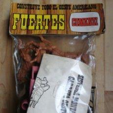 Figuras de Goma y PVC: BLISTER (MONTAJE CARRETA OESTE) CONSTRUYE TODO EL OESTE AMERICANO FUERTES COMANSI. Lote 204438586