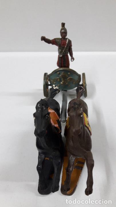 Figuras de Goma y PVC: BIGA - CARRUAJE ROMANO CON CABALLOS - ROMANO NO INCLUIDO . REALIZADO POR GAMA . AÑOS 50 EN GOMA - Foto 5 - 204639375