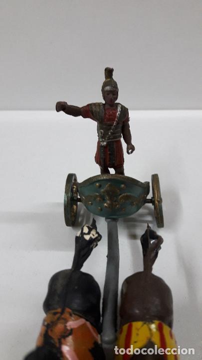 Figuras de Goma y PVC: BIGA - CARRUAJE ROMANO CON CABALLOS - ROMANO NO INCLUIDO . REALIZADO POR GAMA . AÑOS 50 EN GOMA - Foto 6 - 204639375