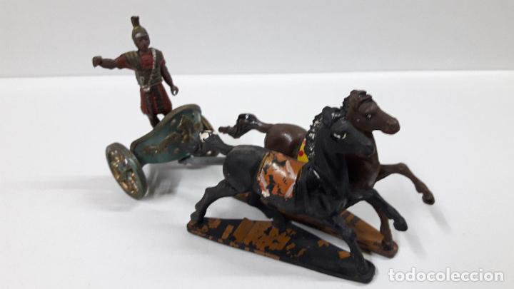 Figuras de Goma y PVC: BIGA - CARRUAJE ROMANO CON CABALLOS - ROMANO NO INCLUIDO . REALIZADO POR GAMA . AÑOS 50 EN GOMA - Foto 13 - 204639375