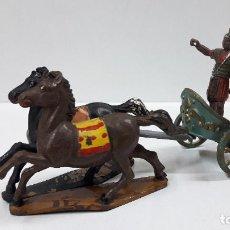 Figuras de Goma y PVC: BIGA - CARRUAJE ROMANO CON CABALLOS - ROMANO NO INCLUIDO . REALIZADO POR GAMA . AÑOS 50 EN GOMA. Lote 204639375