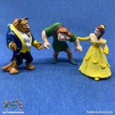 Figuras de Goma y PVC: FIGURA MUÑECO DISNEY LA BELLA Y LA BESTIA - BULLYLAND - ALEMANIA AÑOS 90 + JOROBADO DE NOTRE DAME. Lote 204715983