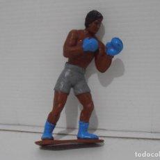 Figuras de Goma y PVC: FIGURA PLASTICO DURO, BOXEADOR, ROCKY BALBOA. Lote 204827020