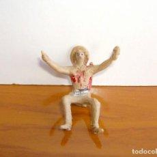 Figuras de Goma y PVC: VAQUERO SENTADO. Lote 204983306