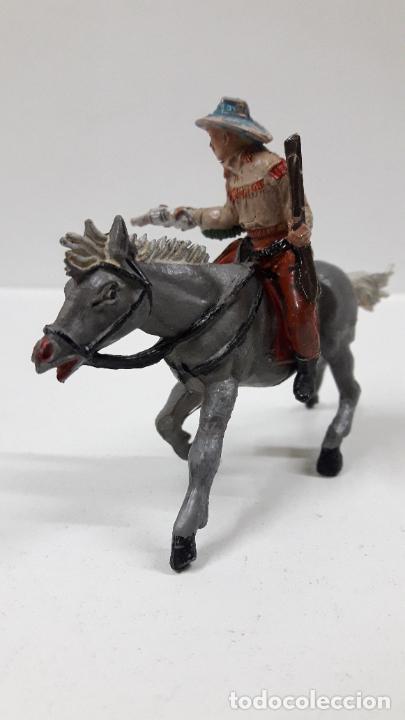 Figuras de Goma y PVC: VAQUERO PARA CABALLO . REALIZADO POR TEIXIDO . AÑOS 50 EN GOMA . CABALLO NO INCLUIDO - Foto 2 - 205016393