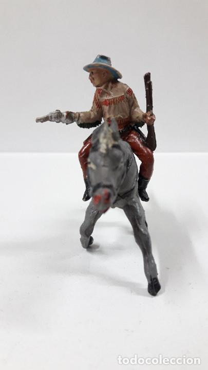 Figuras de Goma y PVC: VAQUERO PARA CABALLO . REALIZADO POR TEIXIDO . AÑOS 50 EN GOMA . CABALLO NO INCLUIDO - Foto 3 - 205016393
