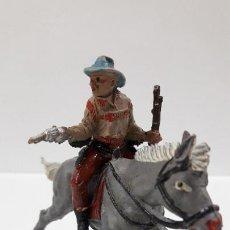 Figuras de Goma y PVC: VAQUERO PARA CABALLO . REALIZADO POR TEIXIDO . AÑOS 50 EN GOMA . CABALLO NO INCLUIDO. Lote 205016393