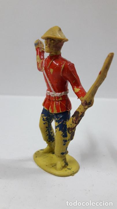 Figuras de Goma y PVC: ANTIGUO SOLDADO DE INFANTERIA - AMERICANO . REALIZADO POR ALCA - CAPELL . AÑOS 50 EN GOMA - Foto 3 - 205016693