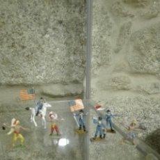 Figuras de Goma y PVC: COMANSI MINI OESTE INDIOS SOLDADOS VAQUEROS AÑOS 70. Lote 205051735