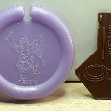 Figuras de Goma y PVC: ORION *LILA* DISCOS VOLADORES PLATILLO SPACE, CON IMPULSOR, DUNKIN MATUTANO ORIGINAL AÑOS 70-80.. Lote 205078692