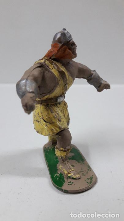 Figuras de Goma y PVC: VIKINGO - SERIE EL CAPITAN TRUENO . REALIZADA POR JIN . ORIGINAL AÑOS 50 EN GOMA . LEER DESCRIPCION - Foto 4 - 205092876