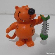 Figuras de Goma y PVC: FIGURA PVC, GATO ISIDORO CON RASPA DE SARDINA, FIGURA NUEVA DE ALMACEN, COMICS SPAIN. Lote 205110290