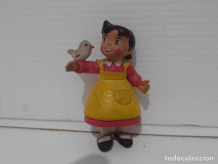 FIGURA PVC, HEIDI CON PAJARITO, COMICS SPAIN (Juguetes - Figuras de Goma y Pvc - Comics Spain)