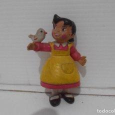 Figuras de Goma y PVC: FIGURA PVC, HEIDI CON PAJARITO, COMICS SPAIN. Lote 205114046