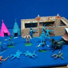 Figuras de Goma y PVC: LOTE COMANSI, FUERTE, MUÑECOS, CARRO CON CABALLOS, ETC.... Lote 205136827