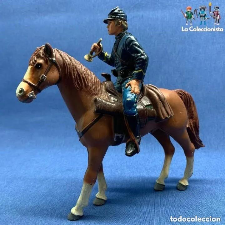 Figuras de Goma y PVC: SOLADO HENRY WILLIAMS A CABALLO - COMANSI HÉROES OF THE WEST - NORDISTA - GRAN CABALLO 18 CM DE ALTO - Foto 1 - 205142430