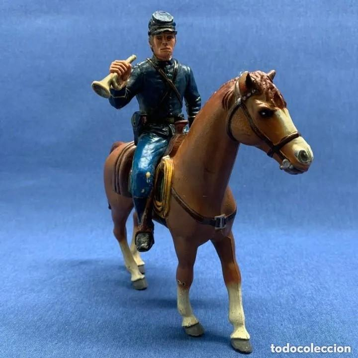 Figuras de Goma y PVC: SOLADO HENRY WILLIAMS A CABALLO - COMANSI HÉROES OF THE WEST - NORDISTA - GRAN CABALLO 18 CM DE ALTO - Foto 2 - 205142430