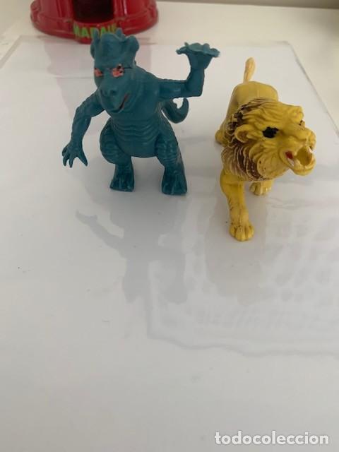 FIGURAS GOMA PVC DRAGON Y LEON (Juguetes - Figuras de Goma y Pvc - Otras)