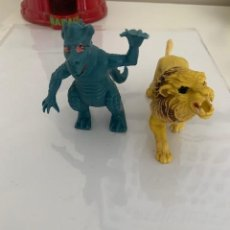Figuras de Goma y PVC: FIGURAS GOMA PVC DRAGON Y LEON. Lote 205145072