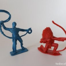 Figuras de Goma y PVC: FIGURAS VAQUEROS INDIOS COMANSI. Lote 205164028