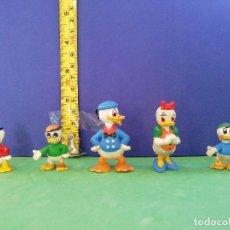 Figuras de Goma y PVC: JECSAN, PECH, SELECCIONES PLÁSTICAS. DONALD, DAISY Y SOBRINOS.. Lote 205237413