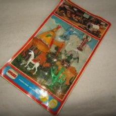 Figuras de Goma y PVC: ANTIGUO BLISTER SIN ABRIR DEL OESTE AMERICANO POR NOVOLINEA COMANSI. Lote 205355920