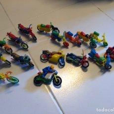 Figuras de Goma y PVC: LOTE 16 MOTOCICLETAS MONTAPLEX - VESPA- BULTACO - HONDA. Lote 205358768