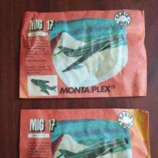 Figuras de Goma y PVC: LOTE DE 2 SOBRES SIN ABRIR MONTA PLEX. Lote 205459890
