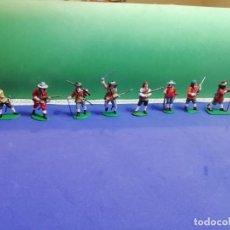 Figuras de Goma y PVC: MOSQUETEROS GUERRA CIVIL INGLESA. Lote 205576076