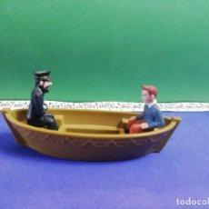 Figuras de Goma y PVC: BALSA TINTIN Y CAPITÁN HADDOCK. Lote 205576490