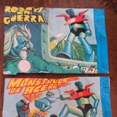 Figuras de Goma y PVC: SOBRES SORPRESA FIGURAS BOOTLEG MAZINGER Z AÑOS 80 ROBOTS EN GUERRA MONSTRUOS DE ACERO PVC MONTAPLEX. Lote 205594195