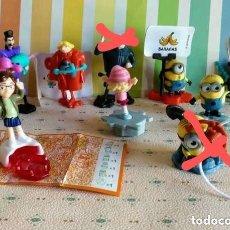 Figuras Kinder: 7 KINDER GRU MINIONS DESPICABLE ME 3, SD699, SD700, SD707, SD744, SD745, SD746, SD748. Lote 132012306