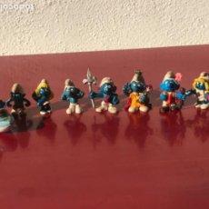 Figuras de Goma y PVC: LOTE DE 9 PITUFOS AÑOS 80.. Lote 205718002
