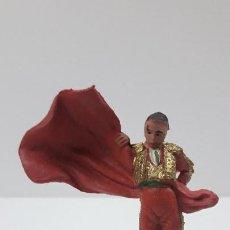 Figuras de Goma y PVC: TORERO . REALIZADO POR PECH . ORIGINAL AÑOS 60. Lote 205733120