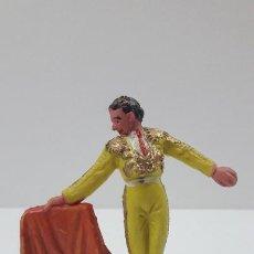 Figuras de Goma y PVC: TORERO . REALIZADO POR PECH . ORIGINAL AÑOS 60. Lote 205733282