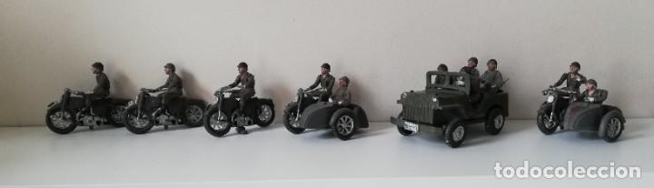 Figuras de Goma y PVC: FIGURA JEEP, DOS MOTOS CON SIDECAR DE TEIXIDO Y 3 MOTOS SENCILLAS, DESFILE DE INFANTERIA, REALIZADAS - Foto 7 - 205738238