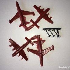 Figuras de Goma y PVC: MONTAPLEX - LOTE DE 4 AVIONES. Lote 205745783