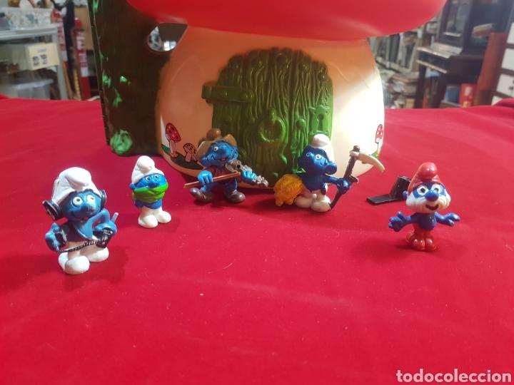 Figuras de Goma y PVC: Grancasa de pitufos famosa 1983 con 5 pitufos - Foto 2 - 205795081