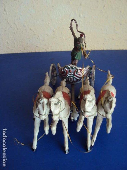 (JU-200567)CUADRIGA ROMANA DE BEN HUR . JUGUETE ANTIGUO REAMSA . AÑOS 60 (Juguetes - Figuras de Goma y Pvc - Reamsa y Gomarsa)