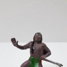 Figuras de Goma y PVC: GUERRERO INDIO HERIDO POR FLECHA . REALIZADO POR GAMA . ORIGINAL AÑOS 50 EN GOMA. Lote 205828950