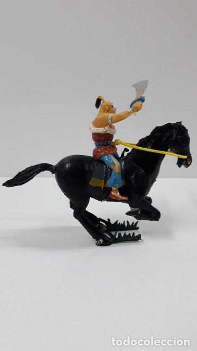 Figuras de Goma y PVC: KARAKAN A CABALLO . REALIZADO POR ESTEREOPLAST . SERIE EL COSACO VERDE . ORIGINAL AÑOS 60 - Foto 5 - 205830041