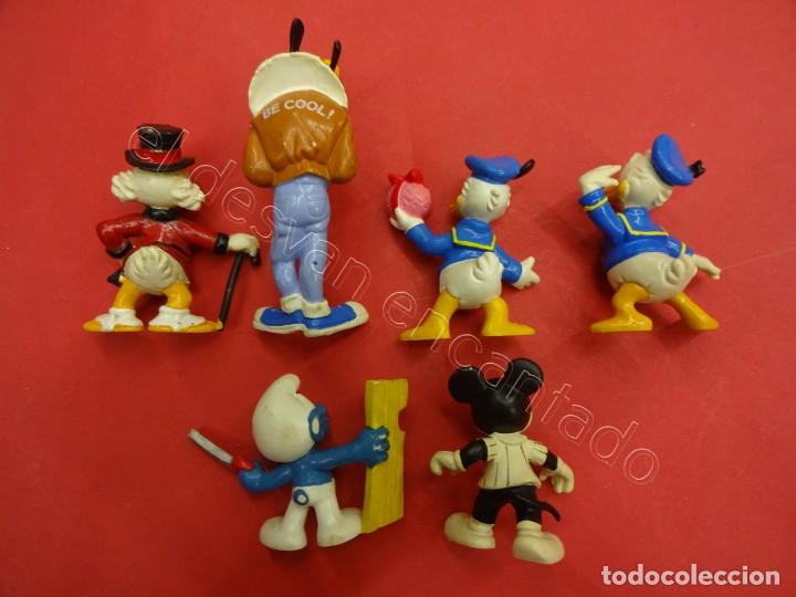 Figuras de Goma y PVC: Lote figuras BULLY Disney + un Pitufo - Foto 2 - 205833116