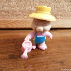 Figuras de Goma y PVC: CERDITO JARDINERO. Lote 206119152