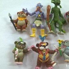 Figuras de Goma y PVC: LOTE DE 7 FIGURAS EWOKS-STAR WARS-COMICS SPAIN-L F L-1986-KEZ-DULOK-BAS-PAPLOO-LATARA-KNEESA. Lote 206145965