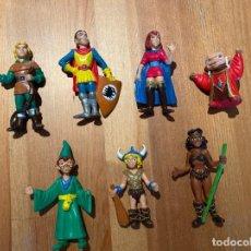 Figuras de Goma y PVC: LOTE 7 FIGURAS PVC PLÁSTICO DRAGONES Y MAZMORRAS. Lote 206146963