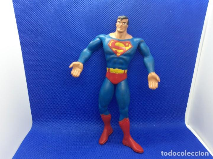Figuras de Goma y PVC: Lote de 4 súper héroes Comics Spain. Superman, Lobezno, Spiderman y Capitán América. - Foto 3 - 206186637