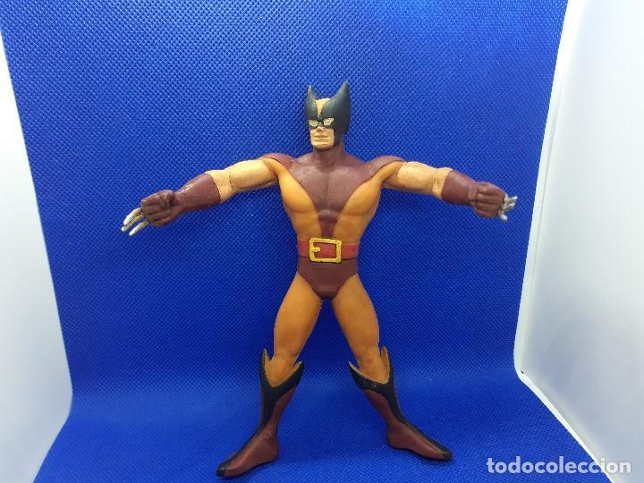 Figuras de Goma y PVC: Lote de 4 súper héroes Comics Spain. Superman, Lobezno, Spiderman y Capitán América. - Foto 6 - 206186637